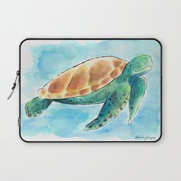 Sea Turtle Waterolour Laptop Sleeve