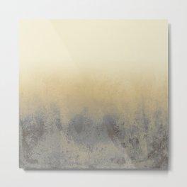 Gradient textured background blue gold beige tones Metal Print