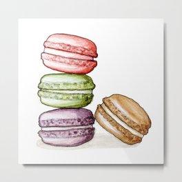 Desserts: Macarons Metal Print