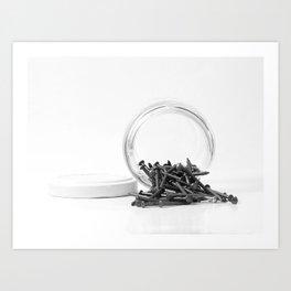 Jar of Nails Art Print