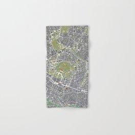 Tokyo city map engraving Hand & Bath Towel