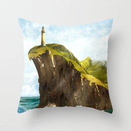 At the End of the Earth Throw Pillow