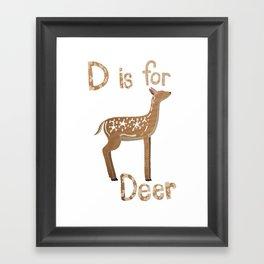 D is for Deer Framed Art Print