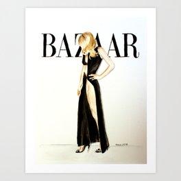 Harper's Bazaar Magazine Cover. Gwyneth Paltrow. Fashion Illustration Art Print