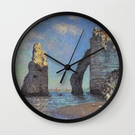 Claude Monet - The Cliffs at Etretat Wall Clock