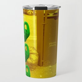Rubbish (Yellow/Green) Travel Mug