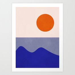 abstract minimal 50 Art Print