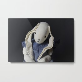 Sad Rabbit Metal Print