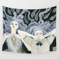 swim Wall Tapestries featuring Swim by Yuliya