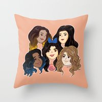 fifth harmony Throw Pillows featuring Fifth Harmony by SurpriseMila