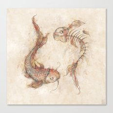 Yin Yang Fish Canvas Print
