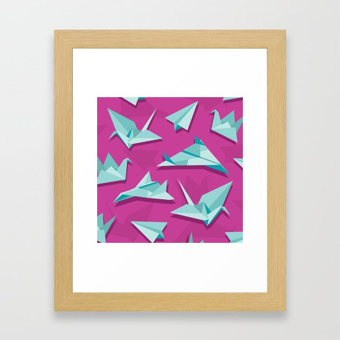 planes and cranes Framed Art Print