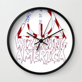 WIZARDING AMERICA T-SHIRT Wall Clock