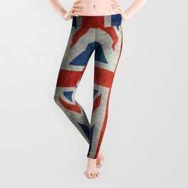 "English Flag ""Union Jack"" bright retro 3:5 Scale Leggings"