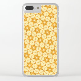 Yellow six-point star pattern Clear iPhone Case