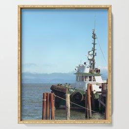 Pilot Boat Bejamin Foss, Columbia River, Astoria, Oregon Serving Tray