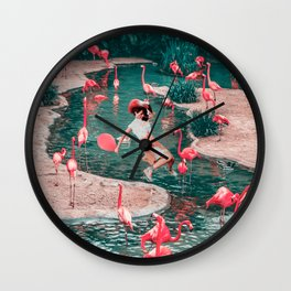 The pink party Wall Clock