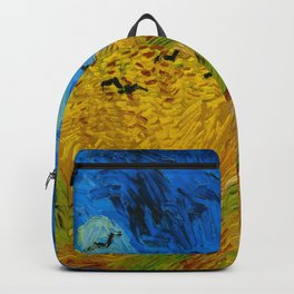Wheatfield with Crows Oil Painting by Vincent van Gogh Backpack