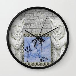 Two Gargoyles  Wall Clock
