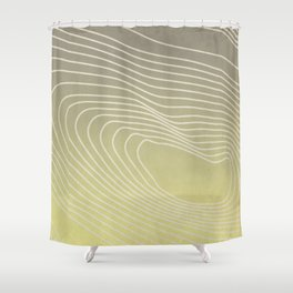 Cushion Topography (Right) Shower Curtain