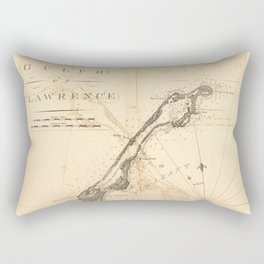 The Atlantic Neptune: Charts for the Use of the Royal Navy (1780) - Magdalen Is, Gulf of St Lawrence Rectangular Pillow