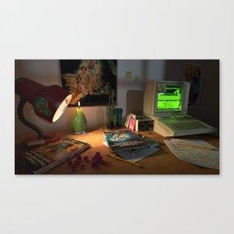 80s Nerd Desk Still Life Canvas Print