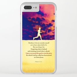 Press On! Clear iPhone Case