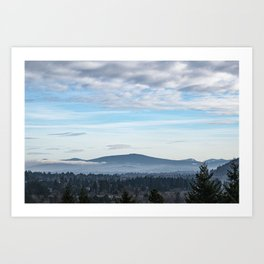Mountain View From Powell Butte Art Print