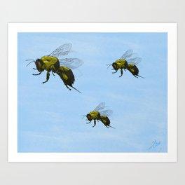 Flight of the Bumblebees Art Print