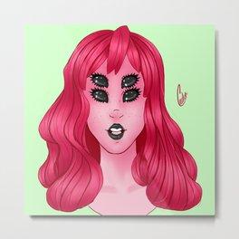 Pink Alien Metal Print