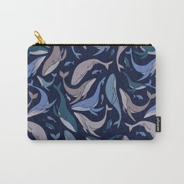 A school of whales Carry-All Pouch