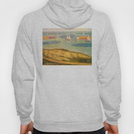 Port-en-Bessin Entrance to the Outer Harbor Georges Seurat - 1888 Impressionism Modern Populism Oil Hoody