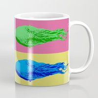 lsd Mugs featuring Doctor Who: Ood on LSD by InvaderDig