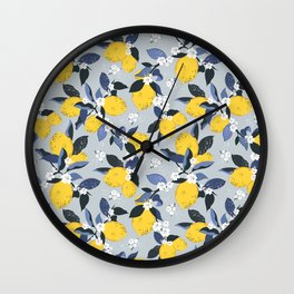 Blue lemon fantasy Wall Clock