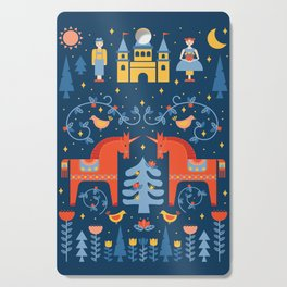 Scandivian Fairytale in Blue Cutting Board