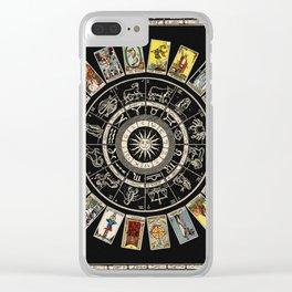 The Major Arcana & The Wheel of the Zodiac Clear iPhone Case