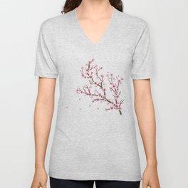 Cherry Blossom Branch Unisex V-Neck