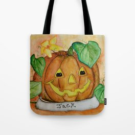 Halloween, Jack O'Lantern, Pumpkin, by Faye Tote Bag