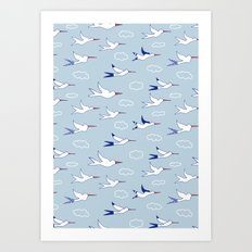 Sea birds Art Print