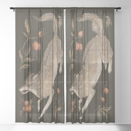 The Wolf and Rose Hips Sheer Curtain