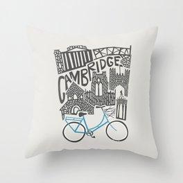 Cambridge Cityscape Throw Pillow