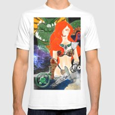 Warrior Lady.  White MEDIUM Mens Fitted Tee