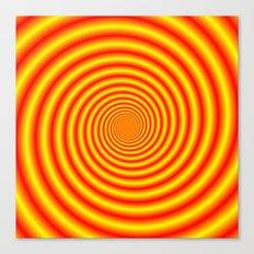 Yellow into Red via Orange Spiral Canvas Print