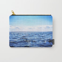 Deep Blue Seaside Carry-All Pouch