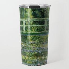 Water Lilies and Japanese Footbridge, Claude Monet Travel Mug
