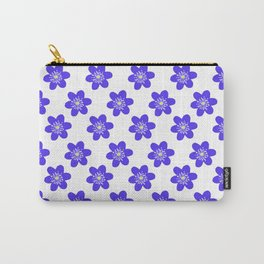 Flower Anemone Hepatica, small Carry-All Pouch