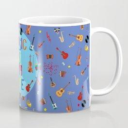 Music is my life (Blue) Coffee Mug
