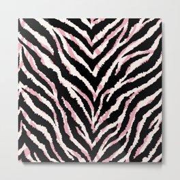 Zebra fur texture print Metal Print