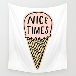 Nice Times Ice Cream Wall Tapestry