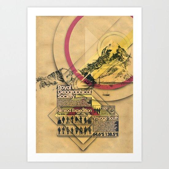 Expedition Nimrod - Exploration #2 Art Print